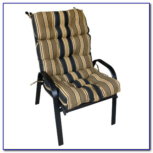 Outdoor High Back Chair Pads