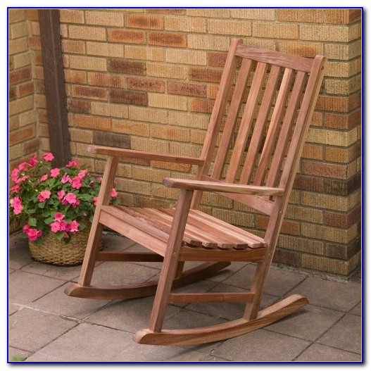 Outdoor Wooden Rocking Chair Cushions
