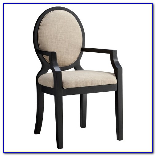 Oval Back Dining Chair Black