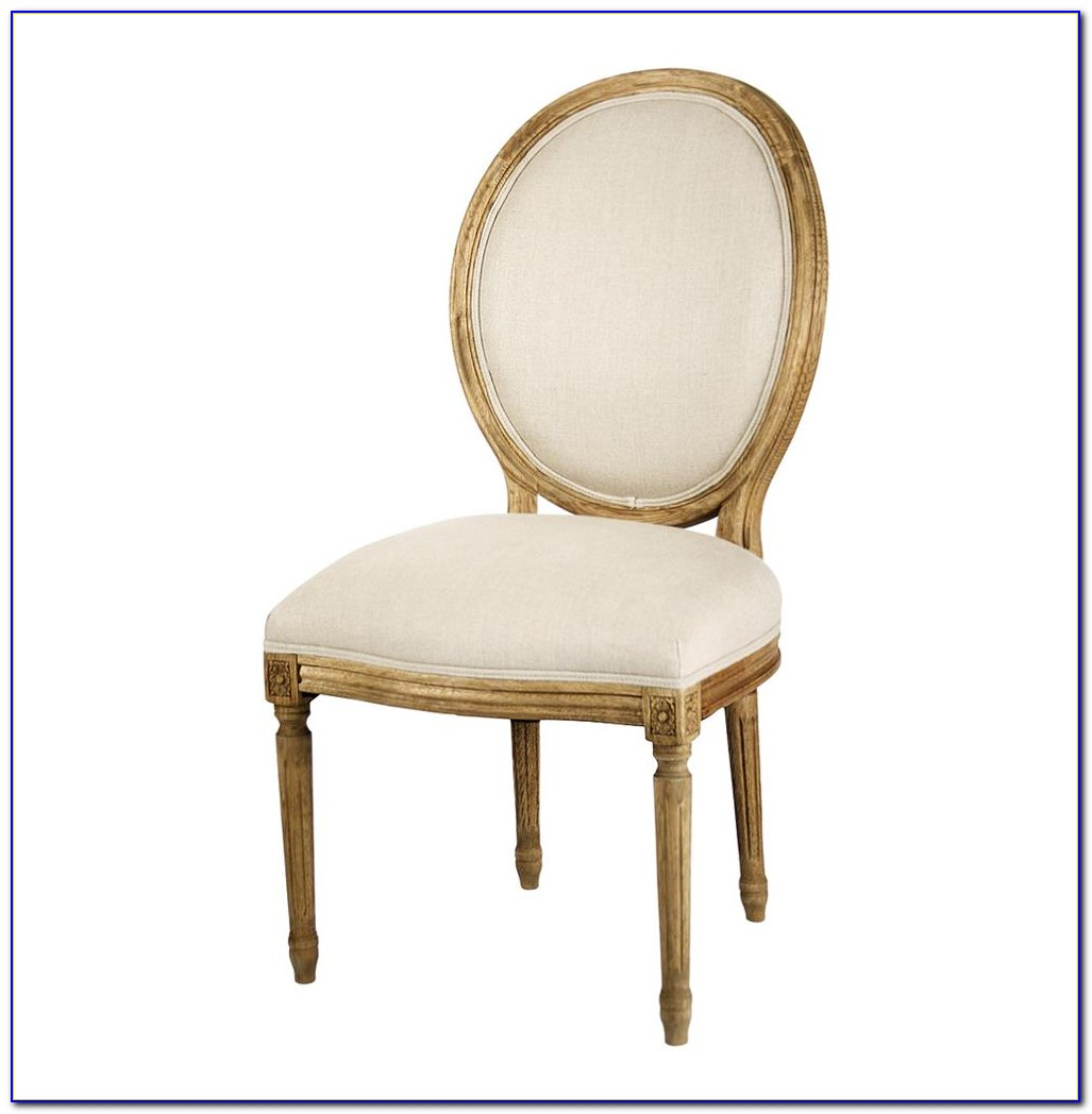 Oval Back Dining Chair White