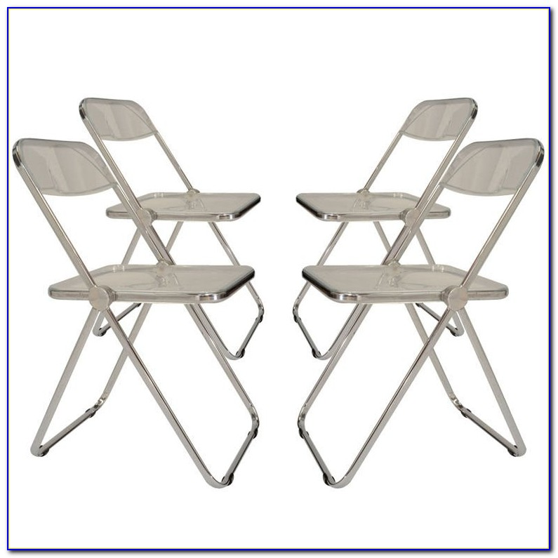 Padded Folding Chairs Set Of 4