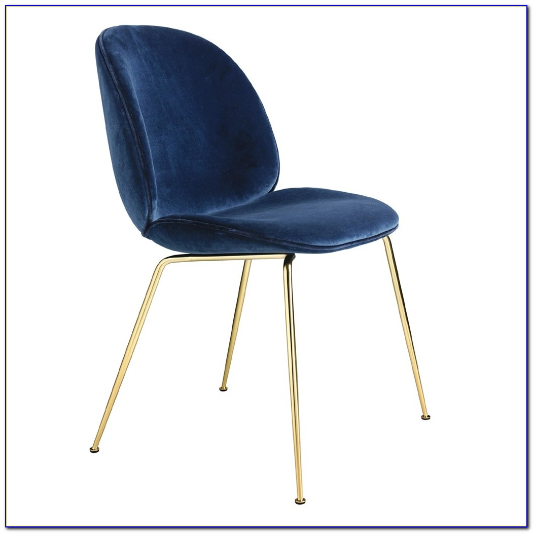 Peacock Blue Velvet Dining Chairs