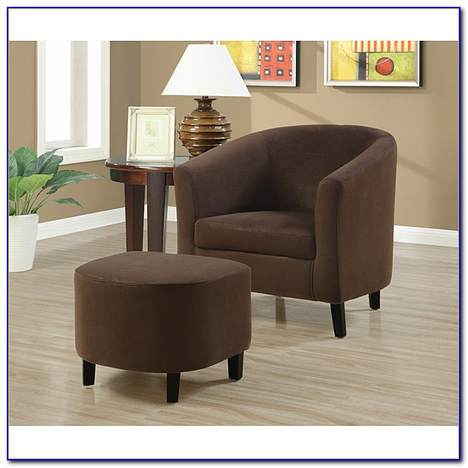 Petra Accent Chair And Ottoman