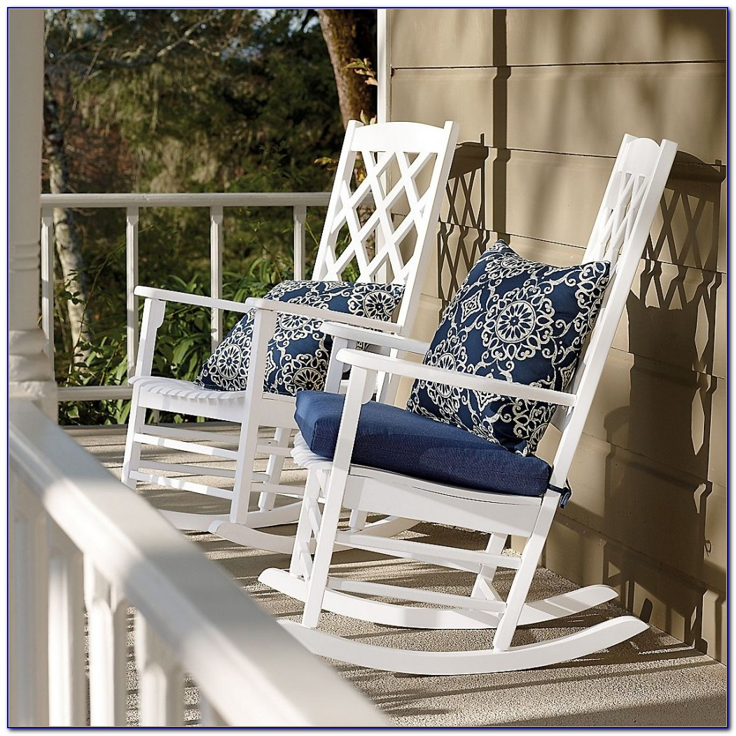 Polywood White Outdoor Rocking Chair