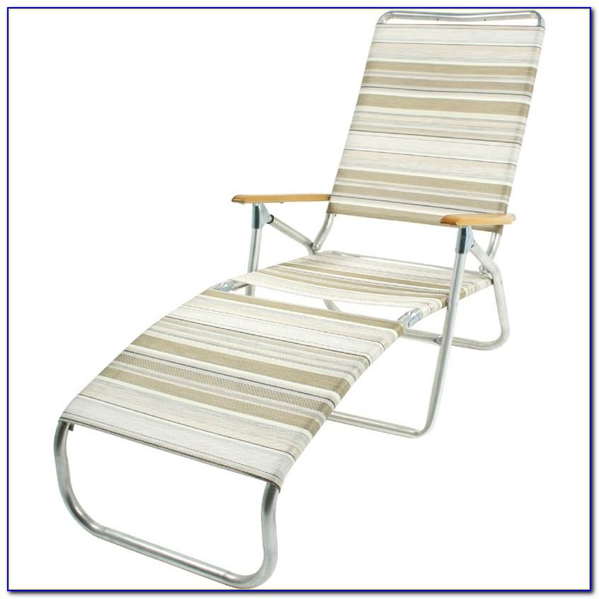 Portable Beach Chaise Lounge Chair