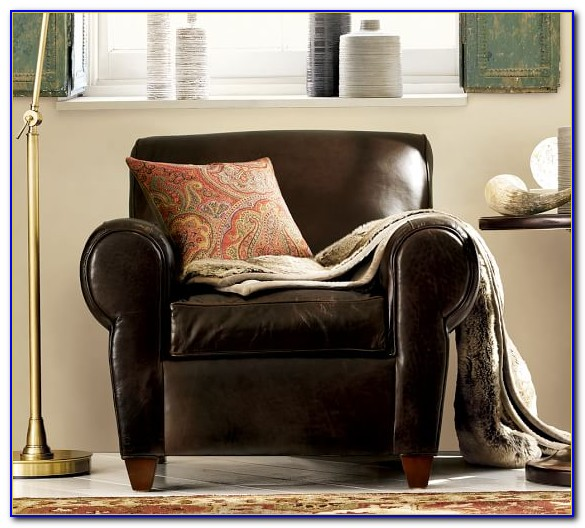 Pottery Barn Club Chair And Ottoman