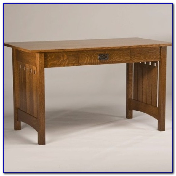 Quarter Sawn Oak Secretary Desk