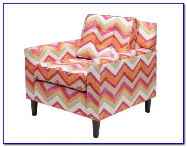 Red And White Chevron Accent Chair