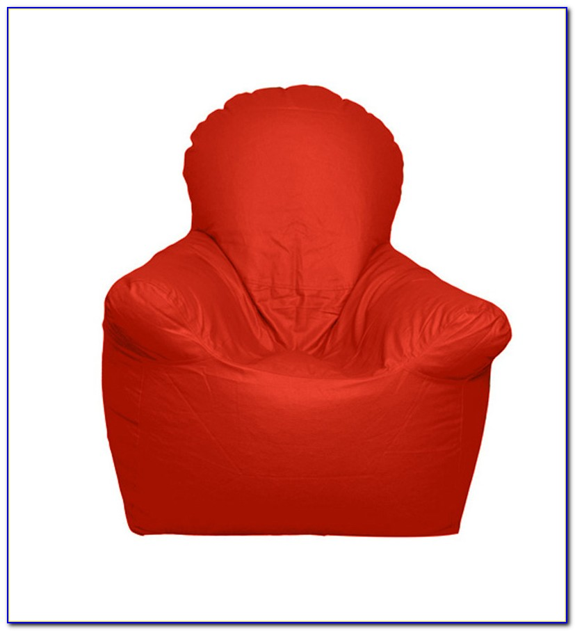 Red Bean Bag Chair Cover