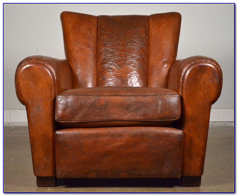 Retro Leather Club Chair