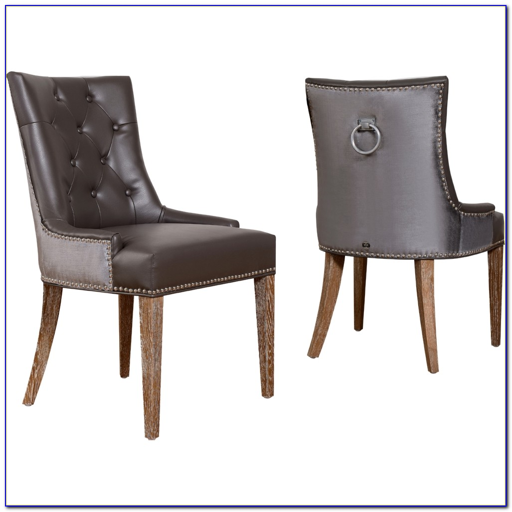Ring Back Studded Dining Chairs