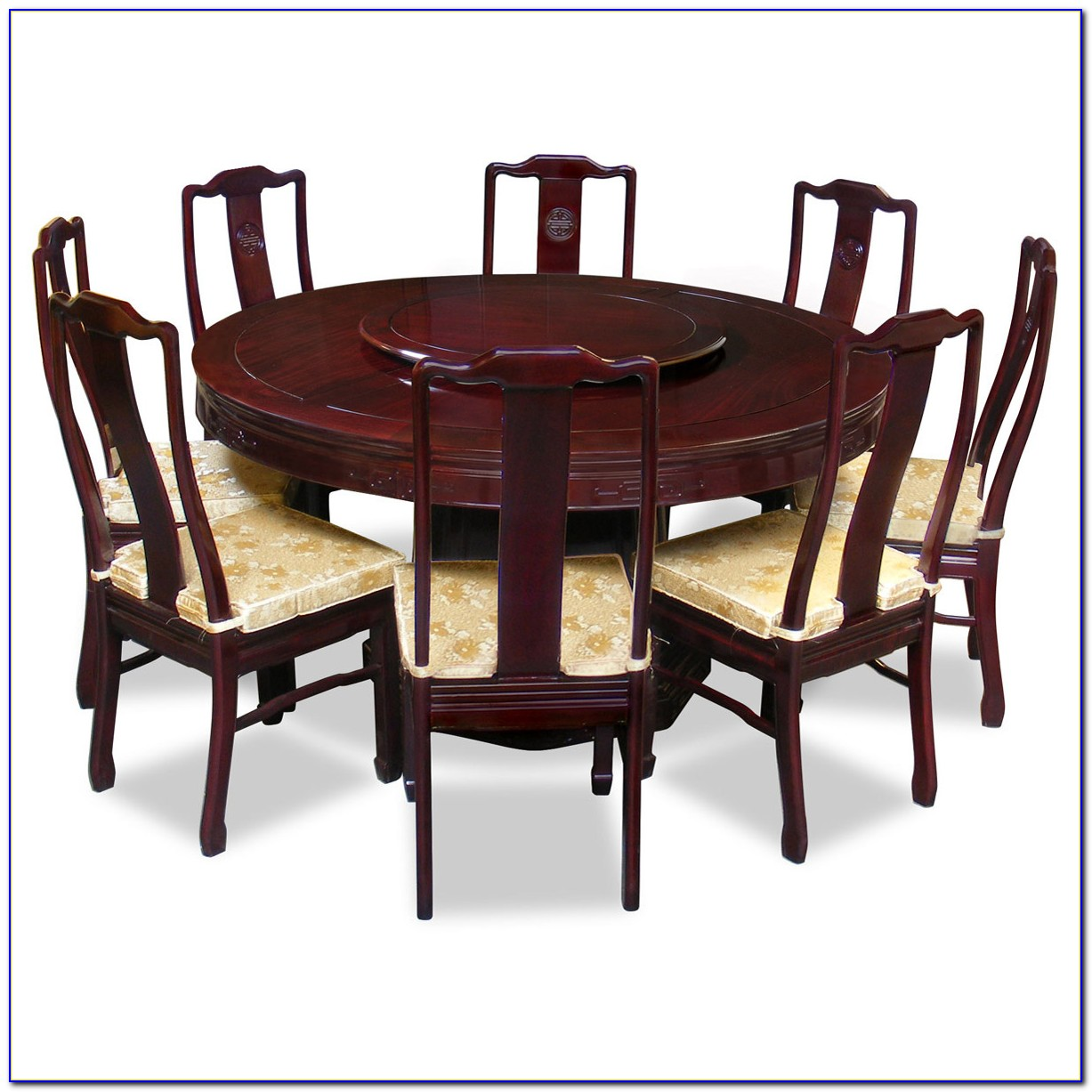 Round Dining Table And Chairs For 8
