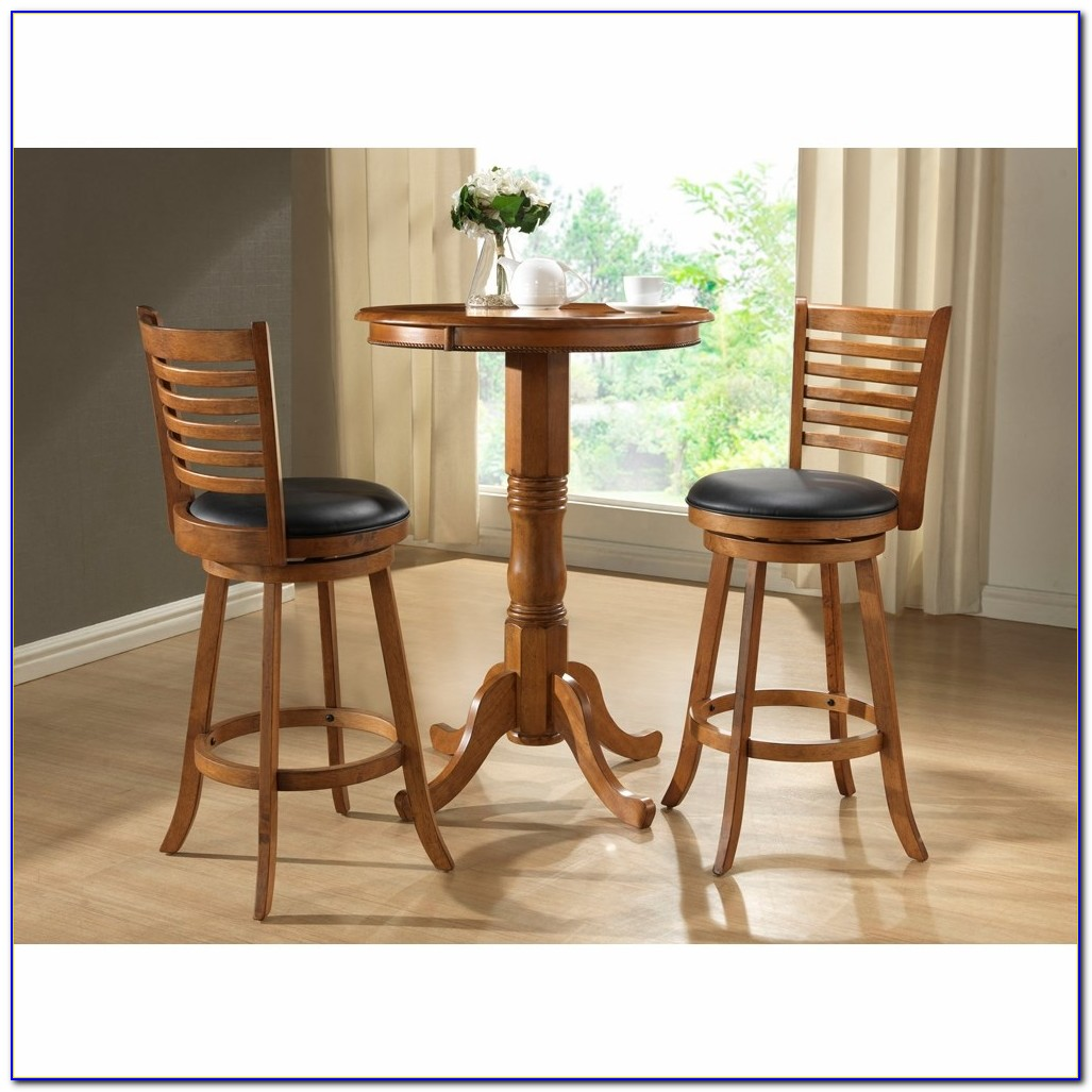 Round Pub Height Table And Chairs