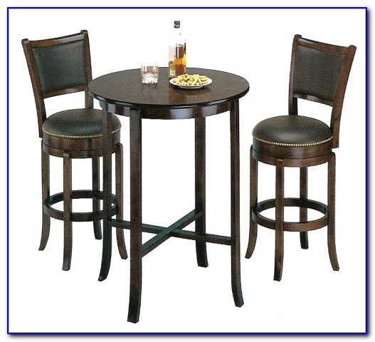 Round Pub Table And 4 Chairs