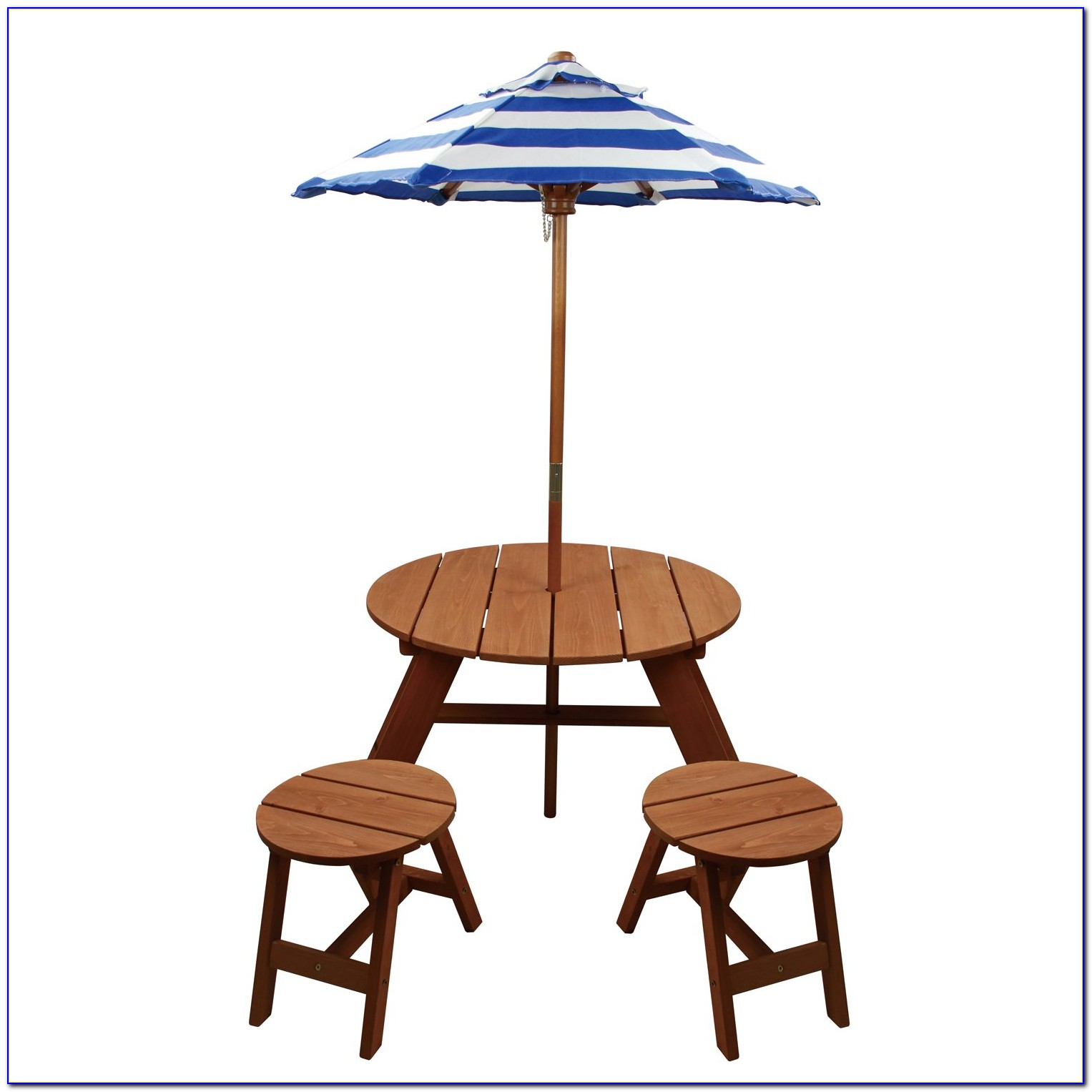 Round Table And Chair Set With Leaf