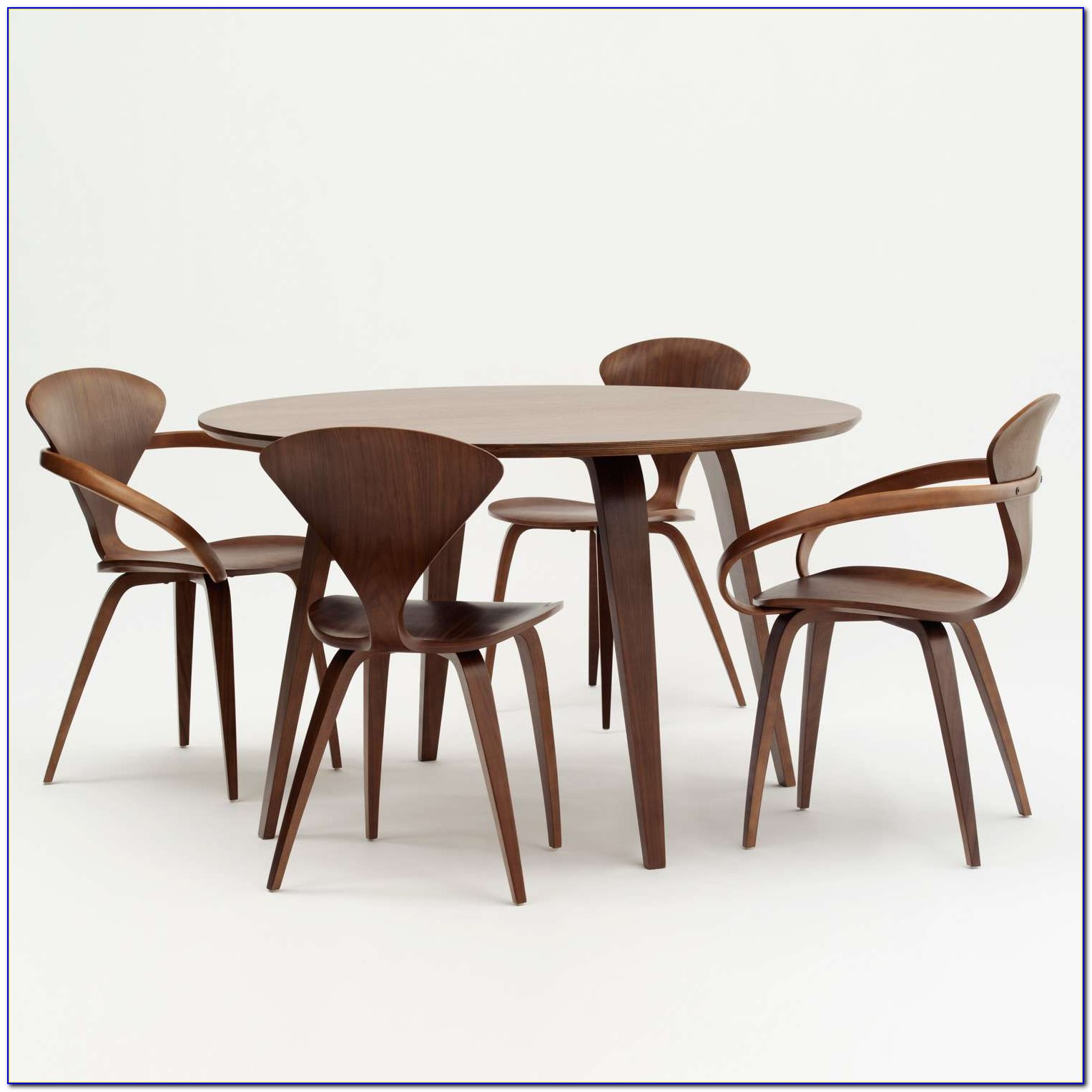 Round Table And Chairs Cad Block