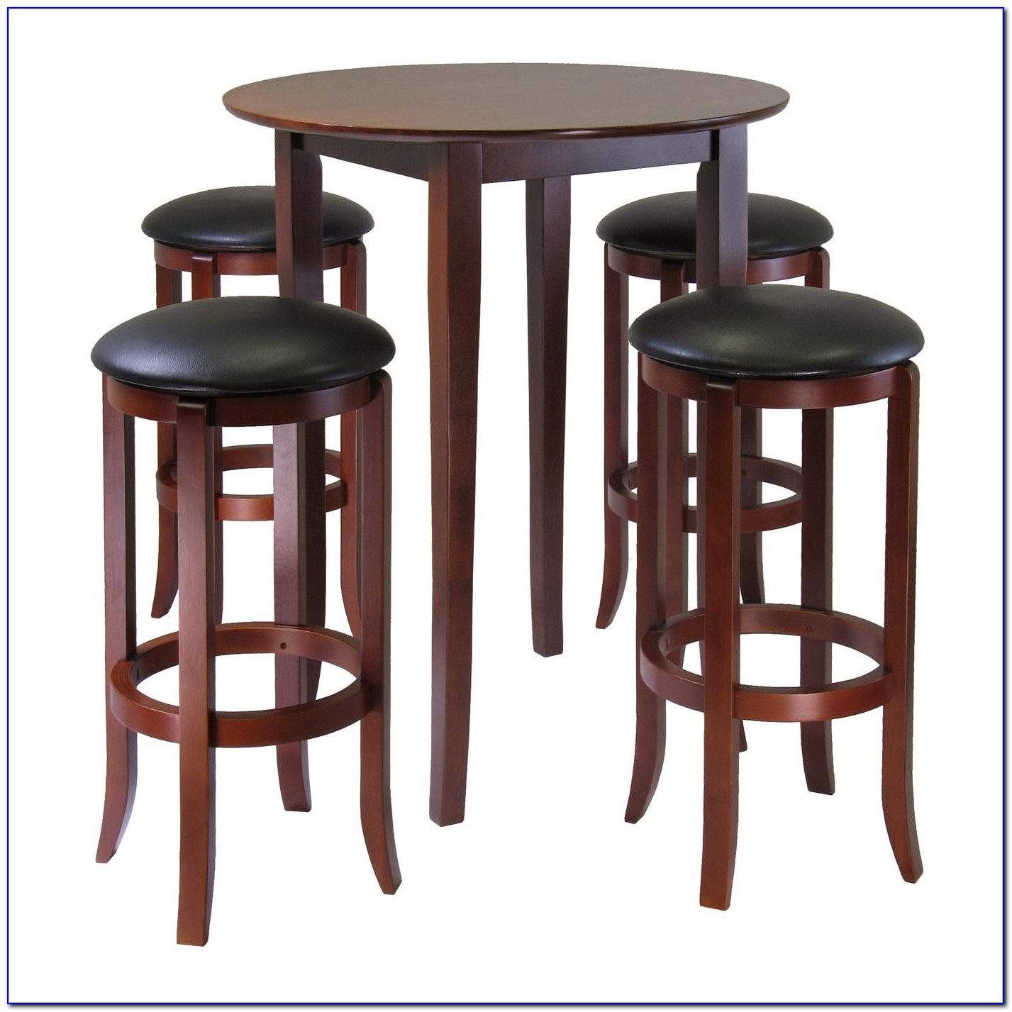 Round Wood Pub Table And Chairs