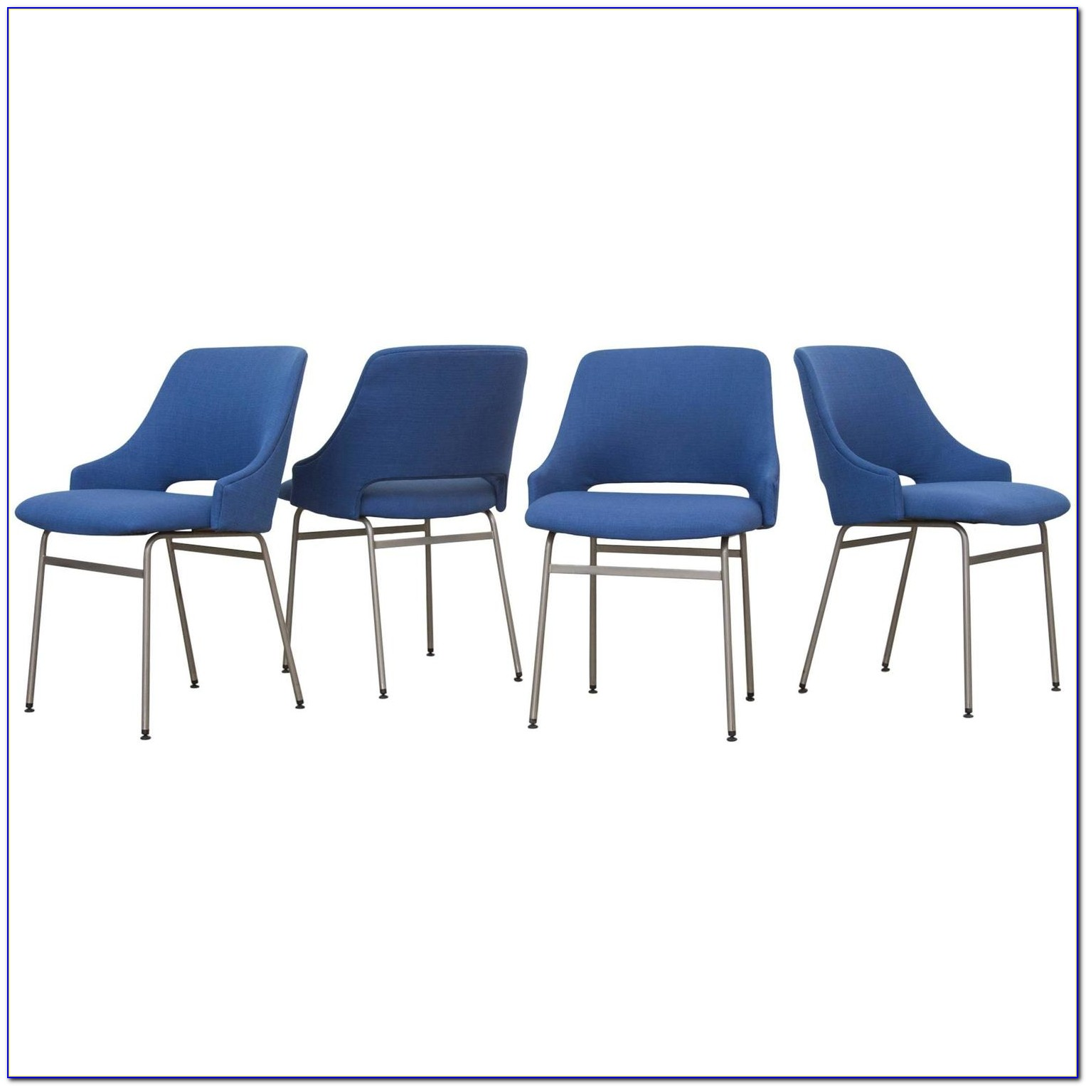 Royal Blue Upholstered Dining Chairs