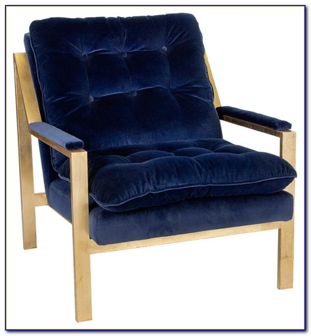 Royal Blue Velvet Accent Chair