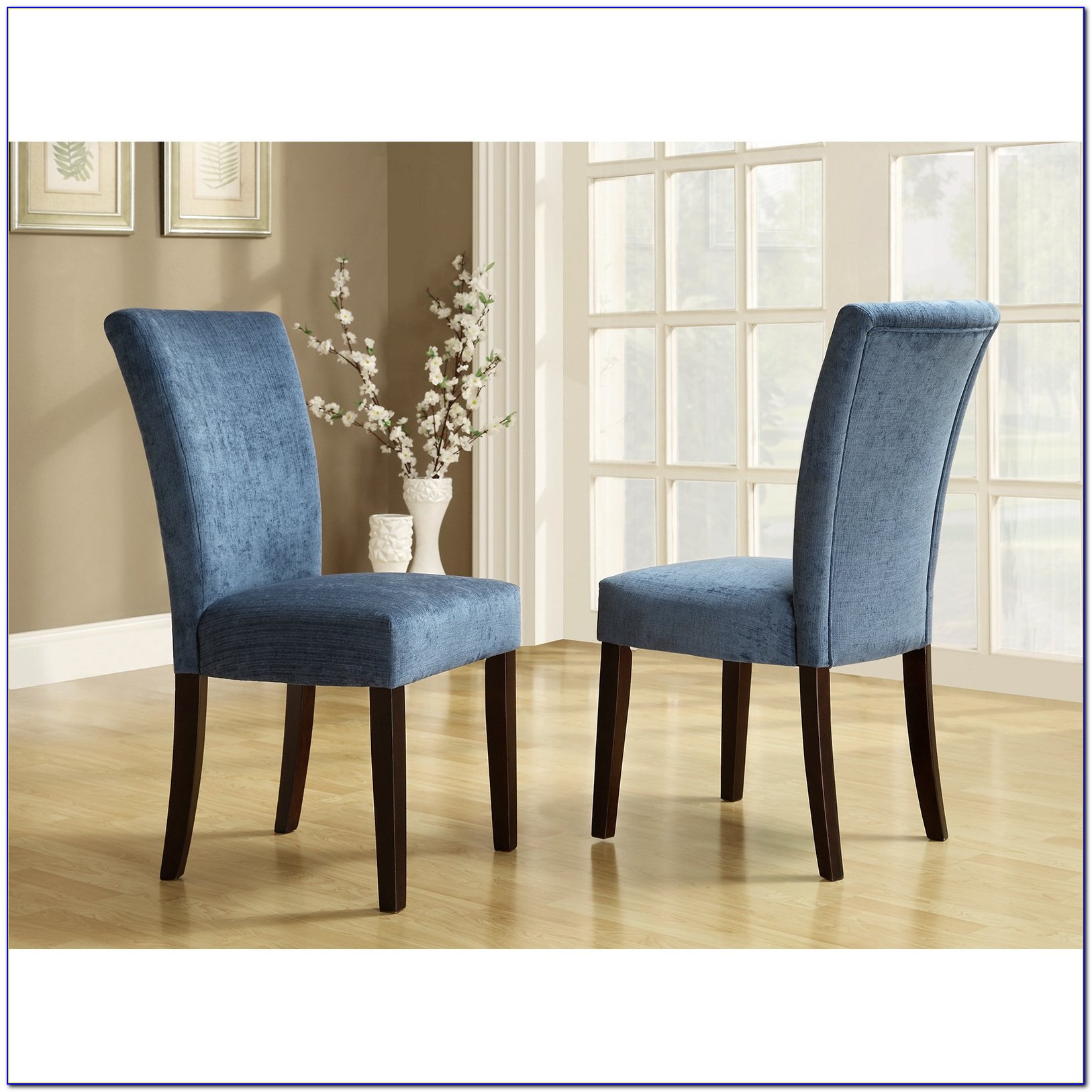 Royal Blue & White Dining Chairs