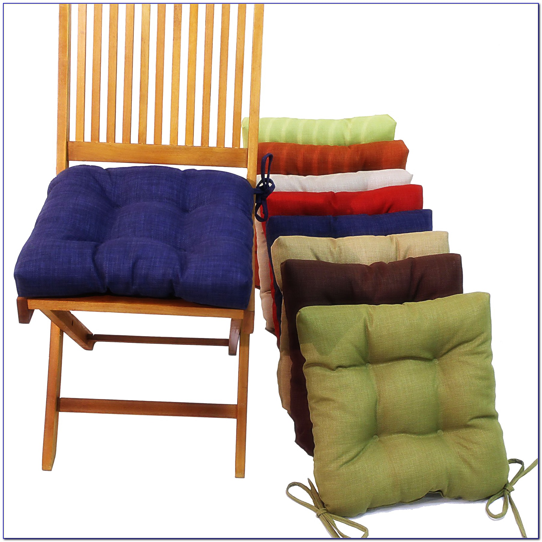 Ruffled Kitchen Chair Cushions With Ties