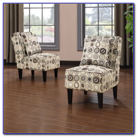 Set Of 2 White Accent Chairs