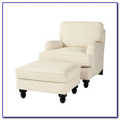 Small Club Chair With Ottoman