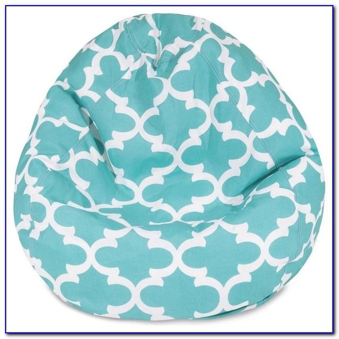 Teal Chevron Bean Bag Chair