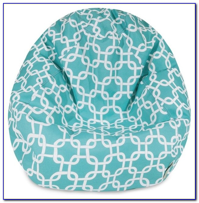 Teal Zoo Animals Baby Bean Bag Chair