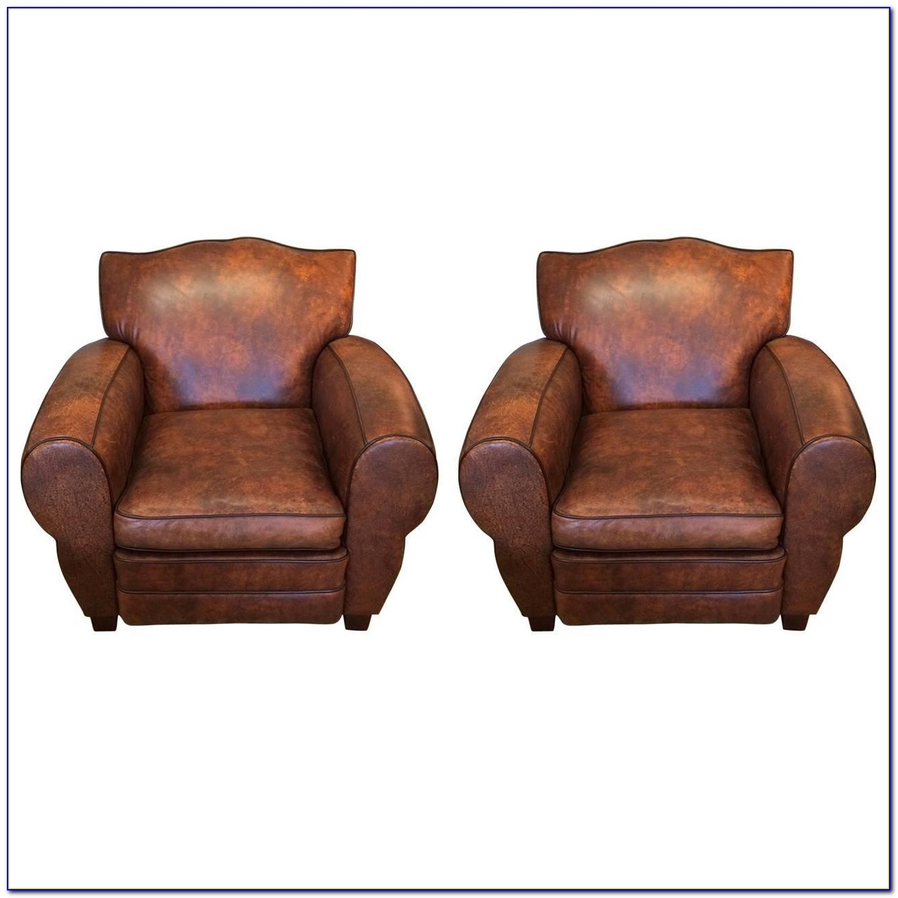 Tufted Brown Leather Club Chair