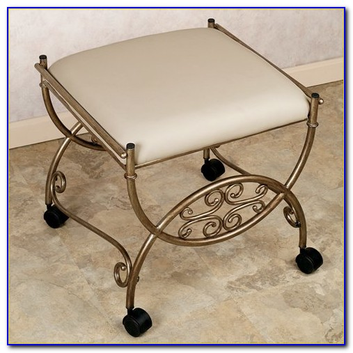 Vanity Chair With Casters