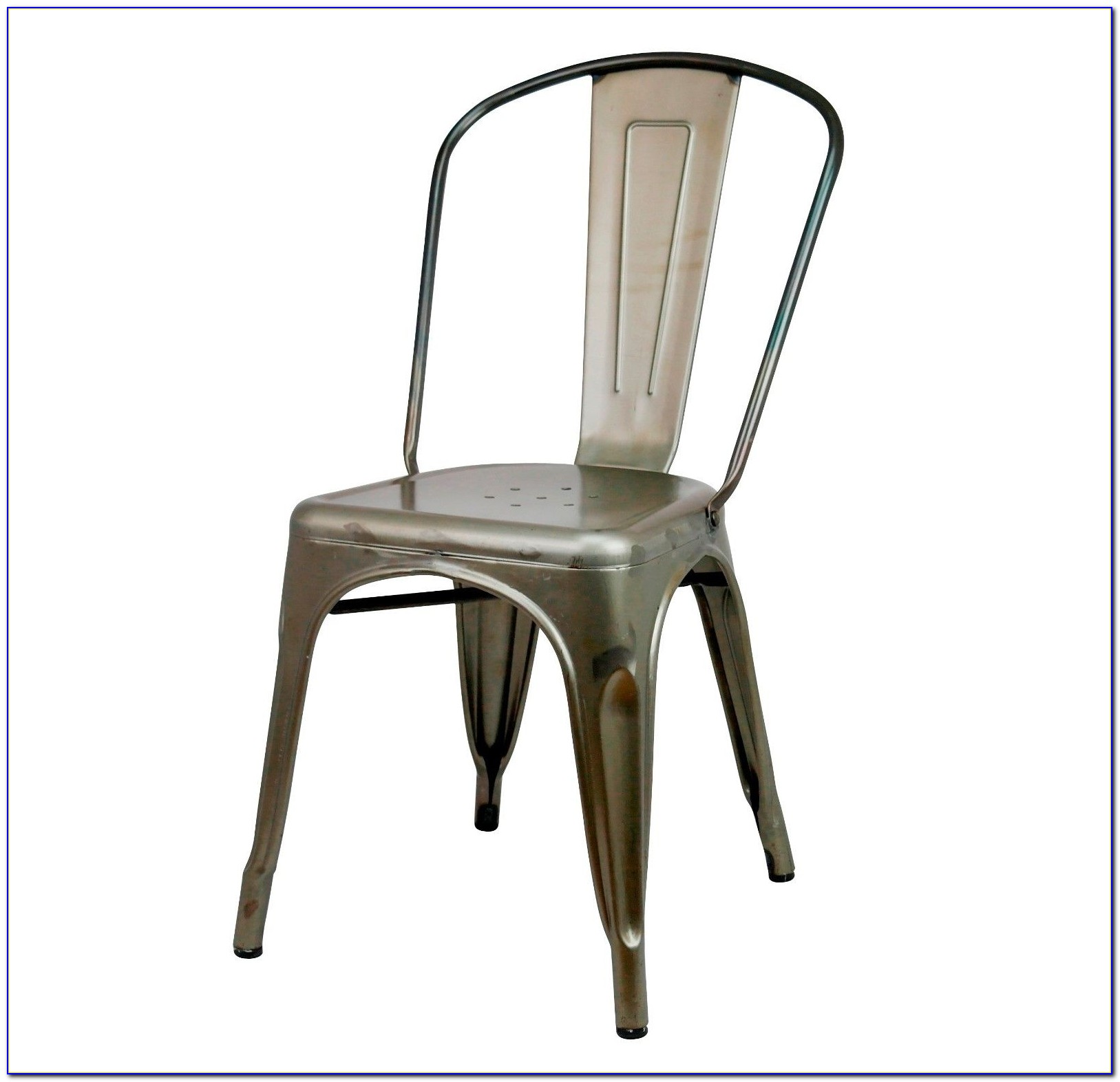 Vintage Industrial Metal Dining Chairs