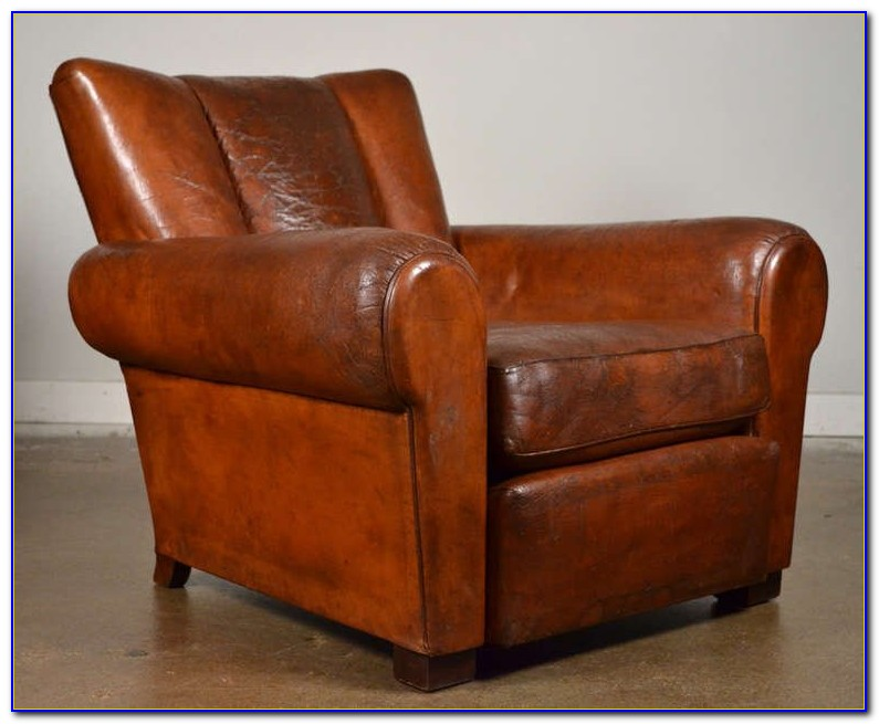 Vintage Leather Club Chair Ebay