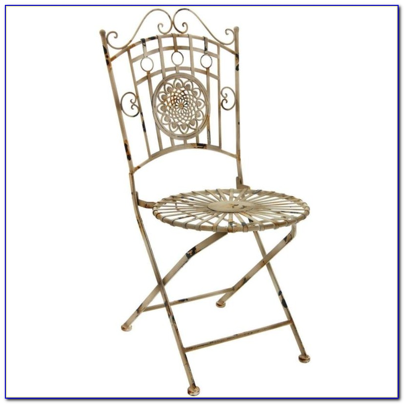Vintage Metal Folding Patio Chairs