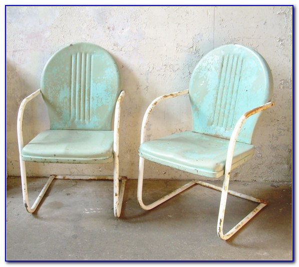 Vintage Metal Lawn Chairs Parts
