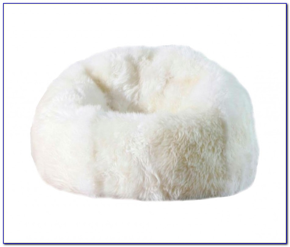 White Bean Bag Chair Cover