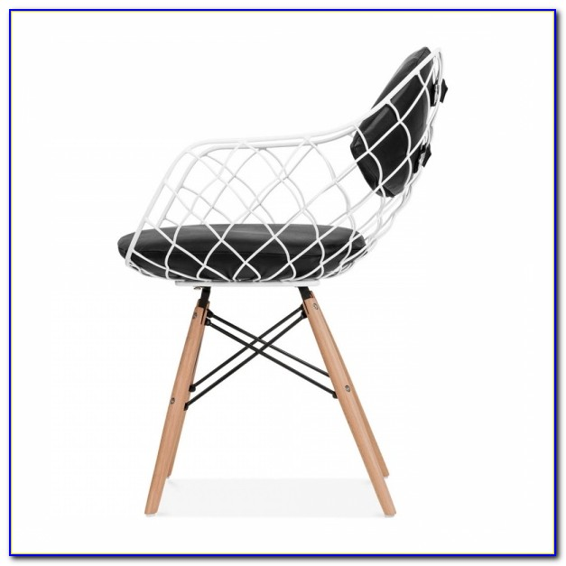White Dining Chair With Wooden Legs