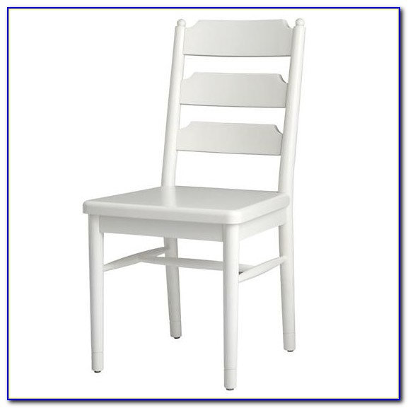 White Distressed Ladder Back Chairs