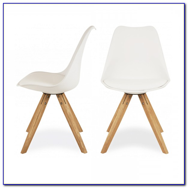 White Eames Chair Wooden Legs