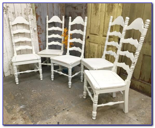 White Ladder Back Desk Chair