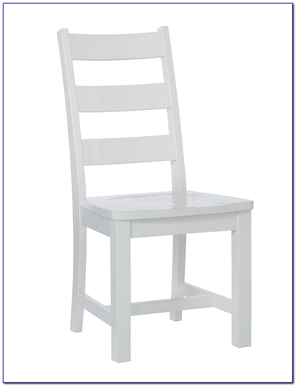 White Ladder Back Dining Chairs