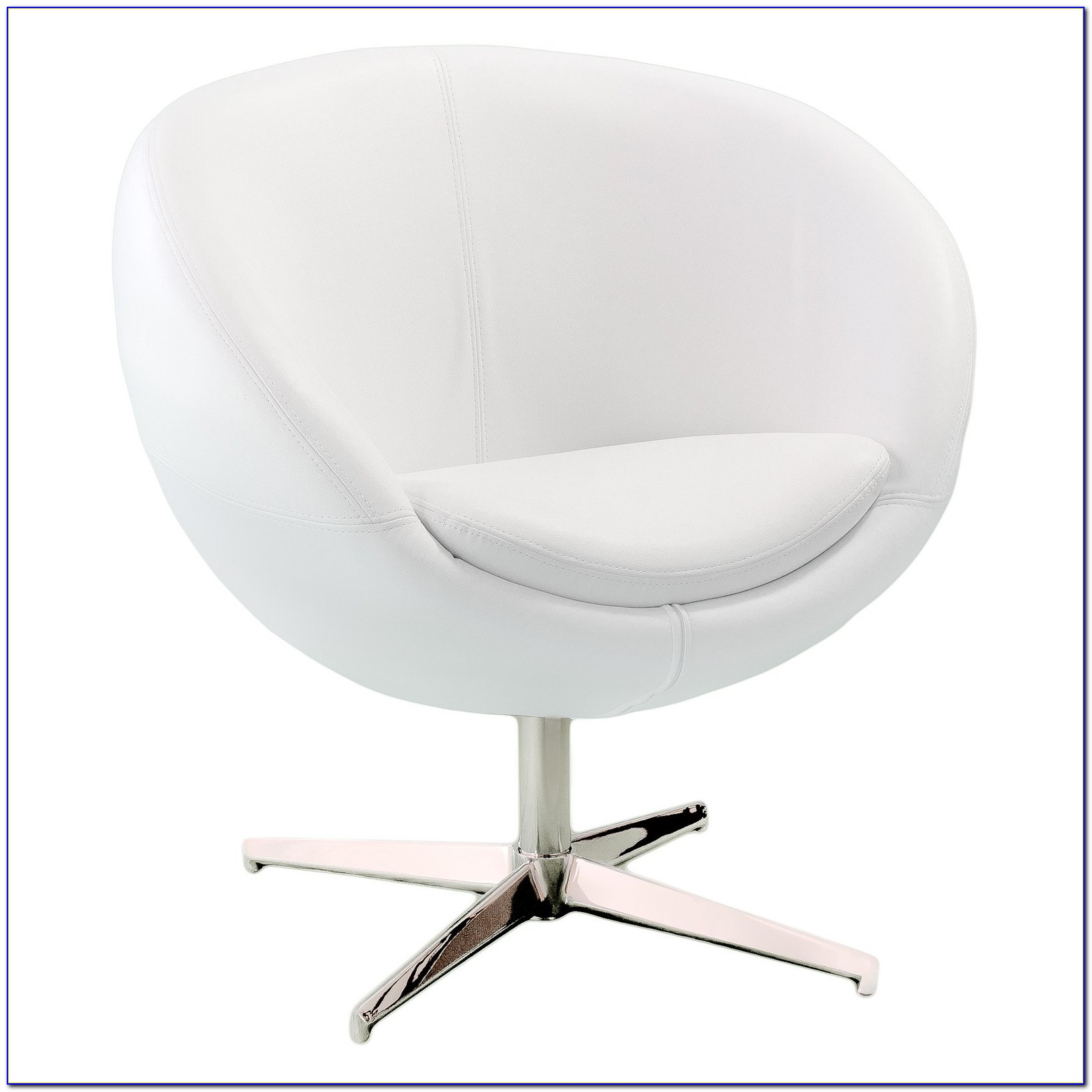 White Leather Accent Chair Canada