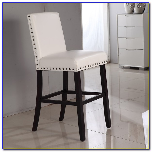 White Leather Bar Stools Australia