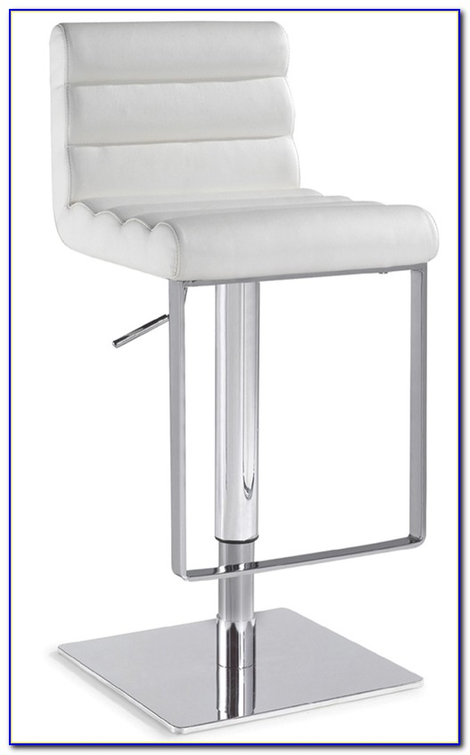 White Leather Bar Stools With Nailhead Trim