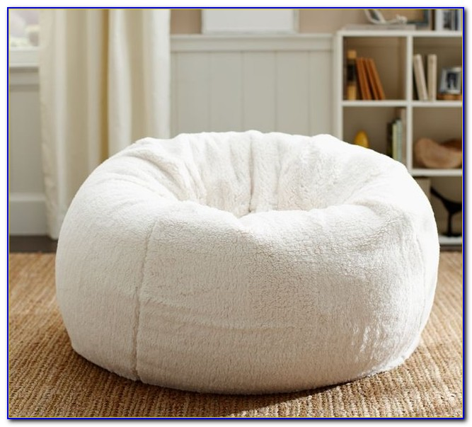 White Leather Bean Bag Chair