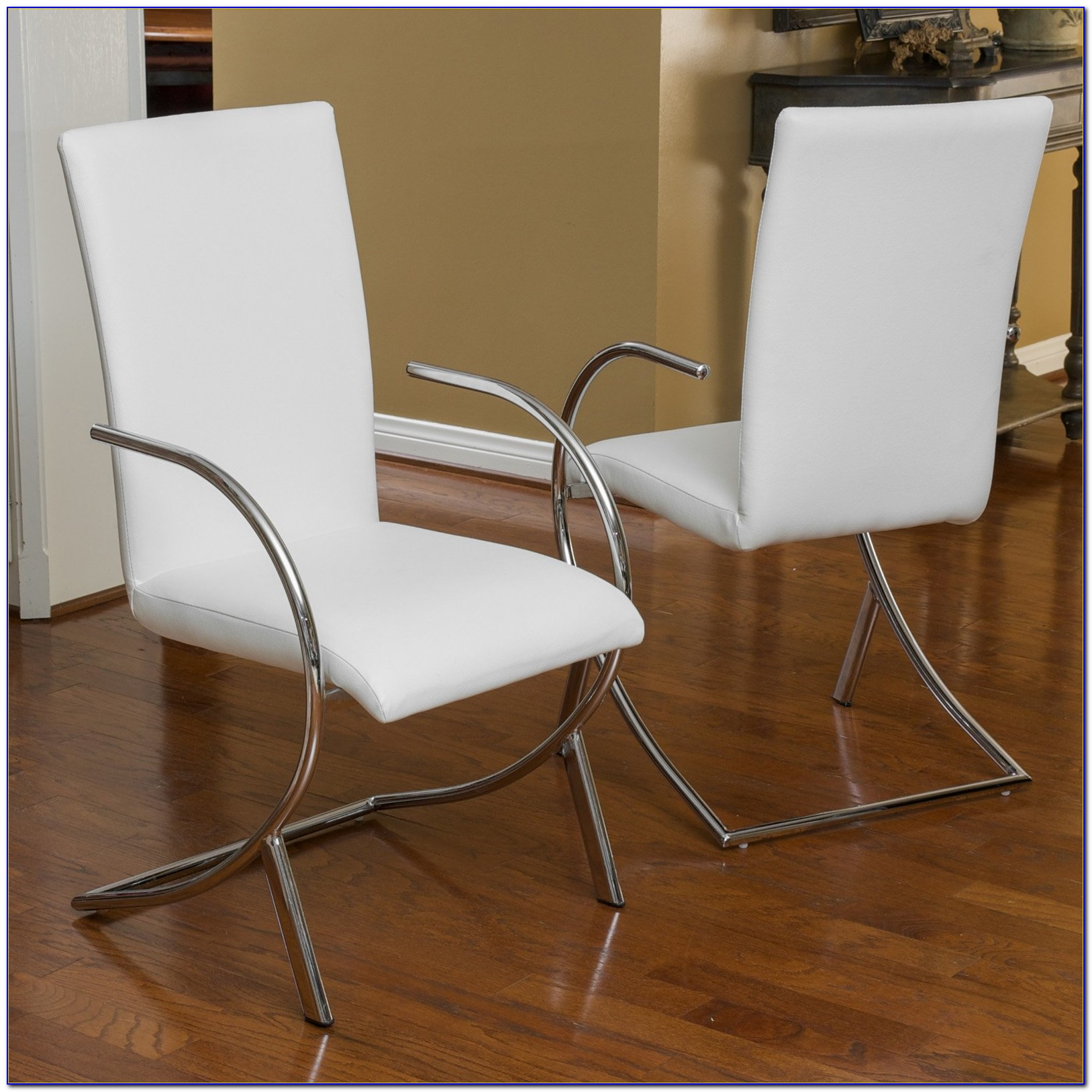 White Leather Dining Room Chairs Canada