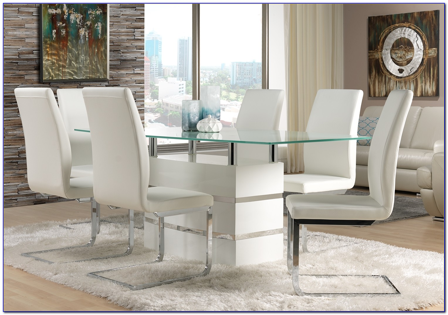White Leather Dining Room Chairs Uk