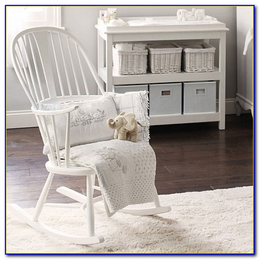 White Rocking Chair Baby Nursery