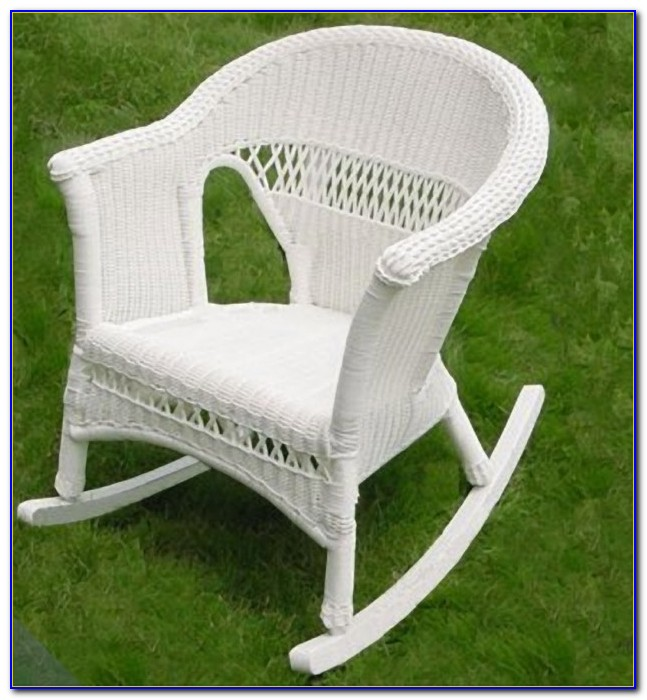 White Wicker Rocking Chair Uk