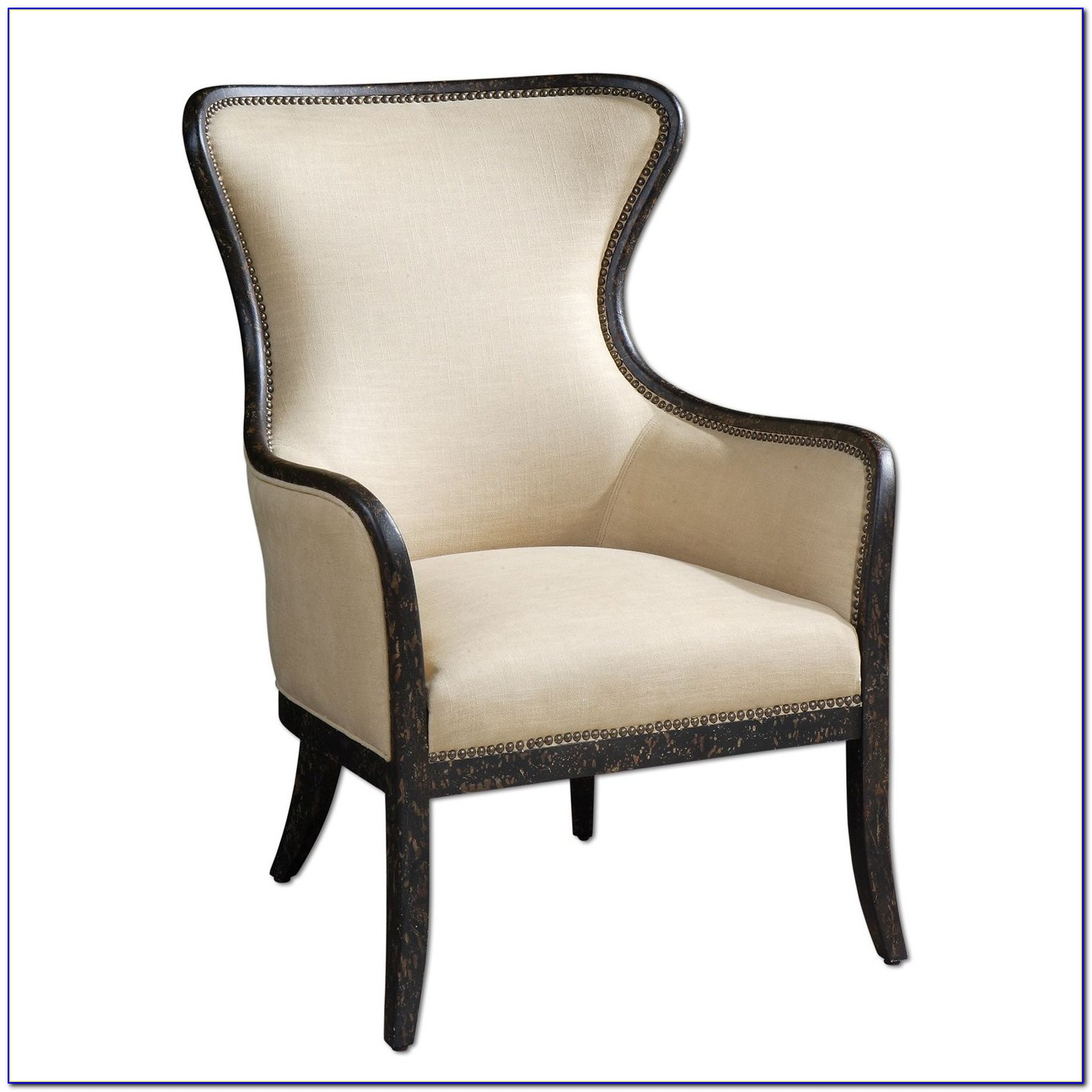 White Wingback Accent Chair